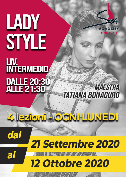 LADY STYLE INTERMEDIO LUNEDì 20.30-21.30