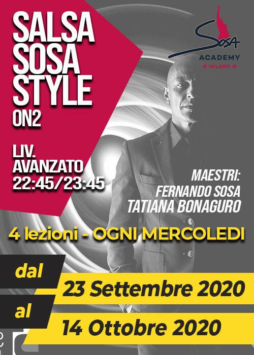 SOSA STYLE ON2 AV. MERCOLEDì 22.45-23.45